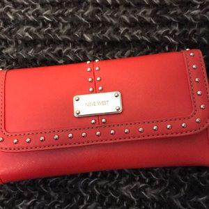 Red Nine West wallet